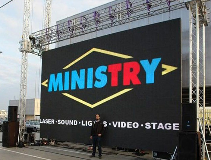 P6 outdoor rental led display screen