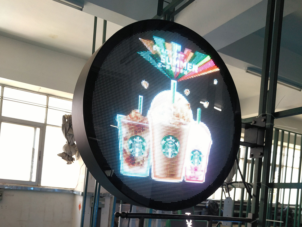 P6 Dual Face Round LED Display Screen