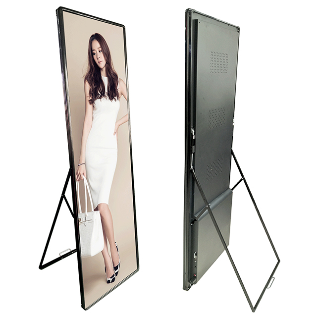 HCMLED P2.5 High Definition Poster/Mirror Advertising led display Screen/ Indoor led Video Billboard