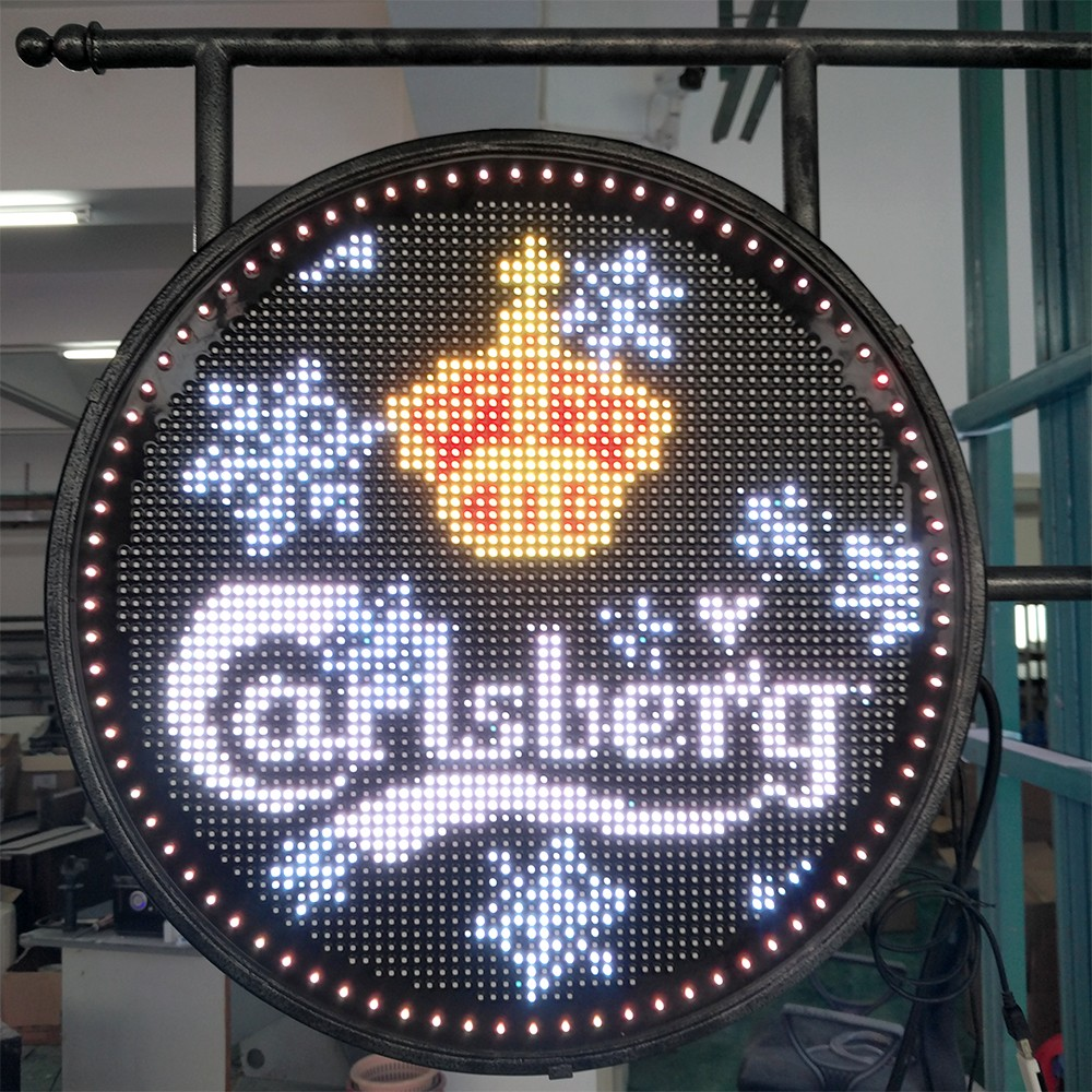 Middle Double-Sided Round Advertising LED Display Screen P6