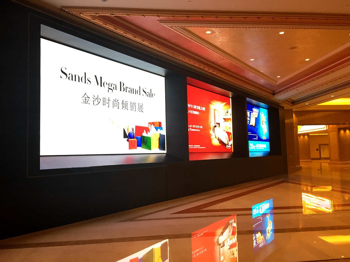 p3 hd indoor fixed advertising led display screen / indoor led video wall