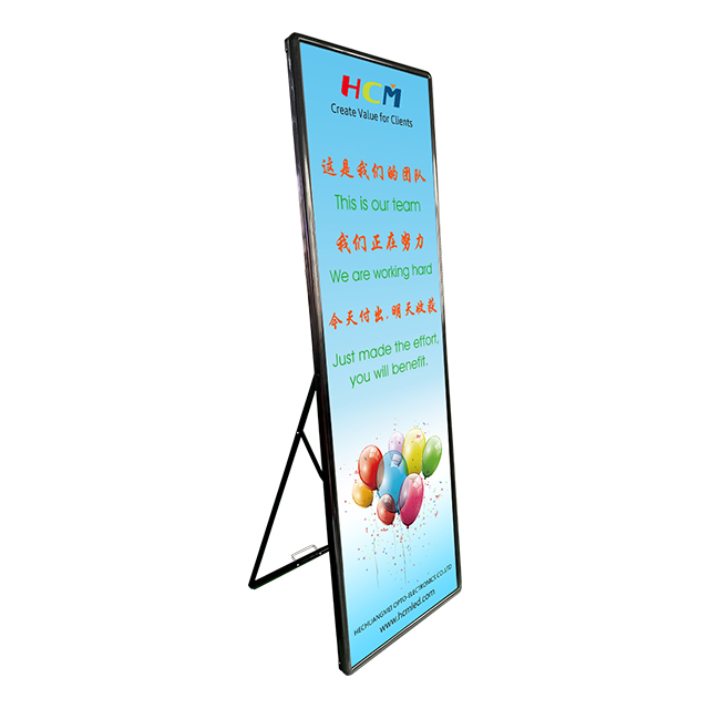 Semi-outdoor Floor stand led display / Poster advertising led panel/ P2.5, P3