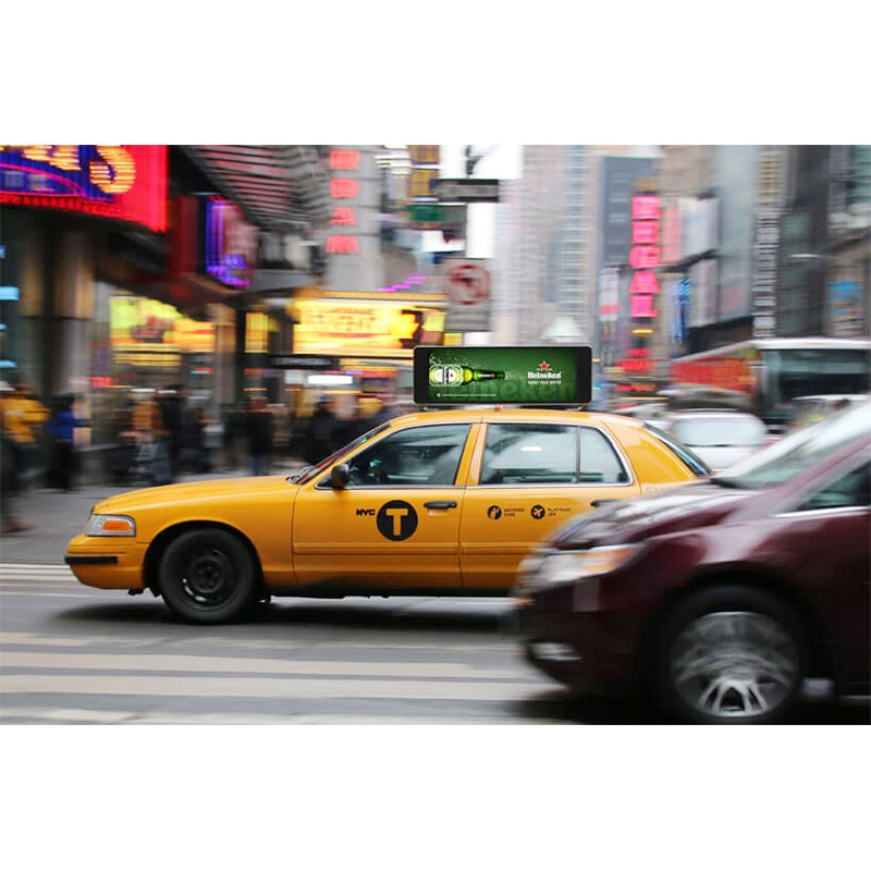 Taxi Top LED Advertising Display Outdoor Waterproof P4/P5 ,Digital LED Taxi Roof for Sale