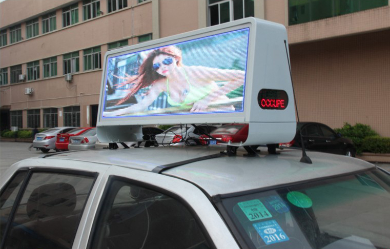 P5 Double-sided Waterproof Outdoor Taxi Top advertising display led screen