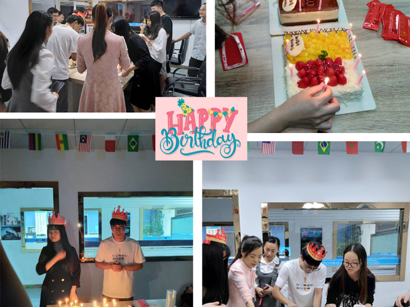 Company employee birthday party, Let company in wishing you a happy birthday. Today specially belongs to you. Enjoy yourself!